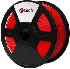 C-Tech tlačiarenská struna, PETG, 1,75mm, 1kg, červená (3DF-PETG1.75-R)