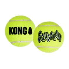 KONG SqueakAir lopta za pse, M, žuta, 3 kom
