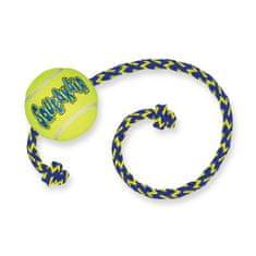 KONG SqueakAir lopta za pse s uzicom, M, žuta