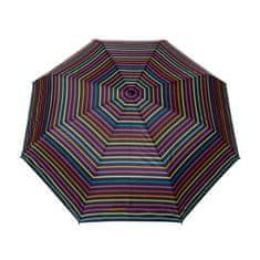 Deštník automatický skládací, pruhovaný