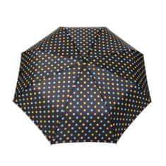 Deštník automatický skládací, puntíky