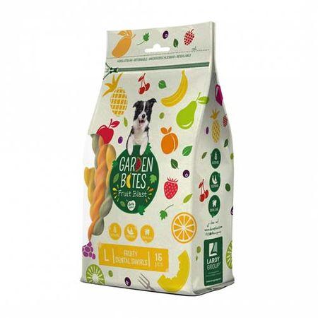 Duvo+ Garden bites - gyümölcsös fogtisztító rudak L 16cm 15db / 270g tasak