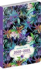 Školní diář Džungle- slovenská verze (září 2020 – prosinec 2021), 9,8 × 14,5 cm