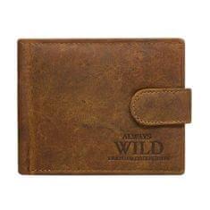 Always Wild Pánská kožená peněženka se zapínáním Čeněk hnědá