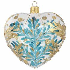 Decor By Glassor Srdce s bronzovým dekorem větviček