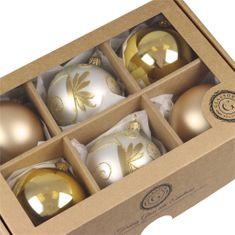 Decor By Glassor Set vánočních ozdob světle zlatý