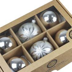 Decor By Glassor Set vánočních ozdob stříbrný