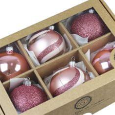 """Decor By Glassor Set vánočních ozdob """"Cukrová vata"""""""