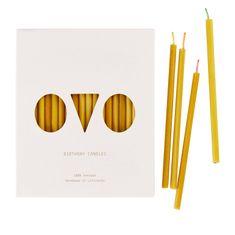 Decor By Glassor Narozeninové svíčky z včelího vosku sada 20ks