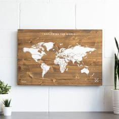 Decor By Glassor Dřevěná mapa světa L