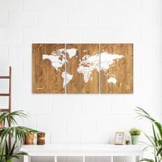Decor By Glassor Dřevěná mapa světa XXL