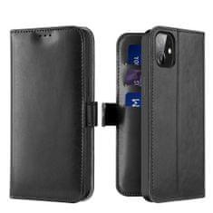 Dux Ducis Kado bőr könyvtok iPhone 12 mini, fekete