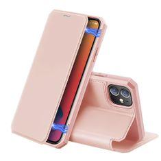Dux Ducis Skin X Knížková kožené pouzdro na iPhone 12 mini, růžové