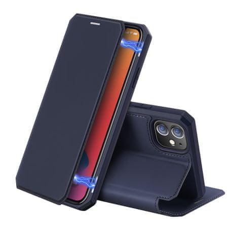 Dux Ducis Skin X bőr könyvtok iPhone 12 mini, kék