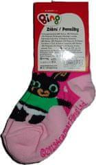 Bing Dívčí ponožky s králíčkem Bingem růžové.