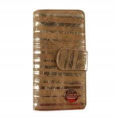 FOREVER YOUNG Luxusní dámská kožená peněženka Gold zebra, zlatá