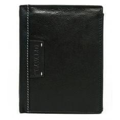 4U Cavaldi Pánská kožená peněženka Stylish Cavaldi, černá