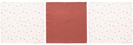 Luma Muszlin arctisztító kendő Sunset Shapes 3db