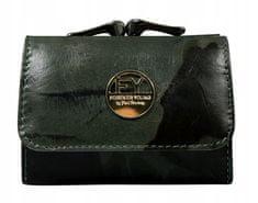 FOREVER YOUNG Menší dámská kožená peněženka Madona, tmavě zelená