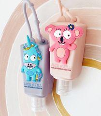 Jack N´ Jill Dětský antibakteriální gel na ruce ve veselém pouzdře Jednorožec 2x 29 ml