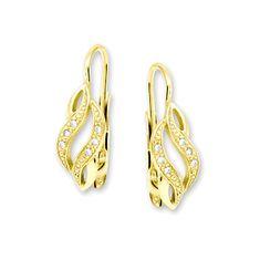 Brilio Náušnice ze žlutého zlata s krystaly 239 001 00611