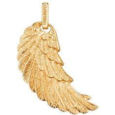 Engelsrufer Pozlacený stříbrný přívěsek Andělské křídlo ERW-G stříbro 925/1000