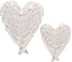 DARKA Srdíčko ve tvaru andělských křídel bílé 208119