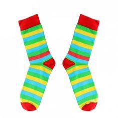 Toe Story Barevné pruhované ponožky Summer Toe