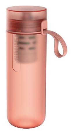 PHILIPS Fitnesz szűrős ivópalack AWP2712RDR/10, piros