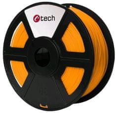 C-Tech tlačiarenská struna, PETG, 1,75mm, 1kg, oranžová (3DF-PETG1.75-O)