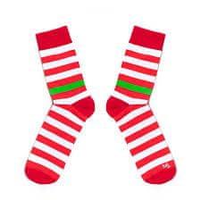Toe Story Červenobílé pruhované ponožky Racer Toe