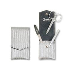 Credo Solingen Luxusní 3 dílná manikúra ve stříbrném pouzdře Carbon 3