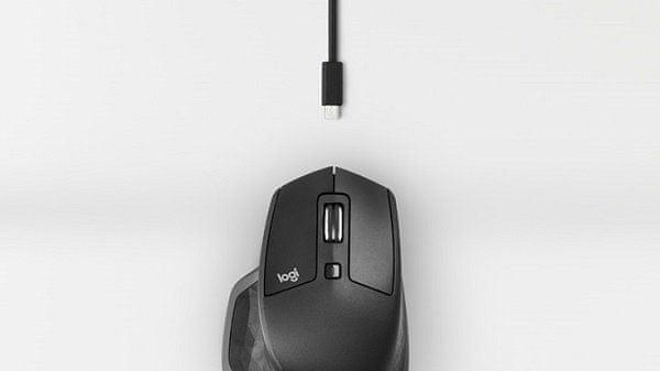 Profesjonalna mysz Logitech MX Master 2S o wygodnym profilu laserowa