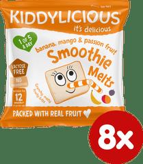 Kiddylicious ovocné polštářky z banánu, manga a marakuji (8x6g)