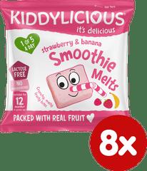 Kiddylicious ovocné polštářky z jahod a banánu (8x6g)
