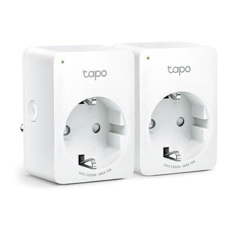 TP-Link Tapo P100 Mini Smart Wi-Fi vtičnica, bela, 2 kosa