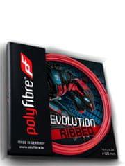 Polyfibre Evolution Ribbed struna za teniški lopar, 12 m, 1,25 mm, rdeča