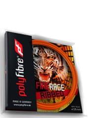 Polyfibre Fire Rage Ribbed struna za teniški lopar, 12 m, 1,25 mm, oranžna