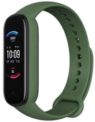 Fitness náramek Xiaomi Mi Band 5, najdi telefon, odemykání telefonu, přehrávání hudby, ovládání spouště fotoaparátu