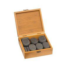 Marco Schreier Hot Stones - sada v bambusové krabičke, 18 ks