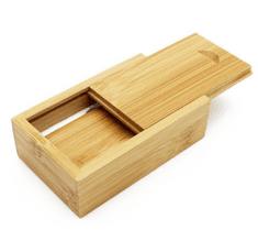 CTRL+C Sada: drevený USB hranol a drevený malý box, bambus CARBON
