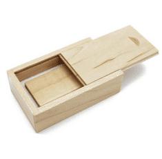 CTRL+C Sada: drevený USB hranol a drevený malý box, javor