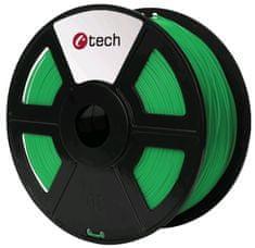 C-Tech tlačová struna, PLA, 1,75mm, 1kg, zelená (3DF-PLA1.75-G)