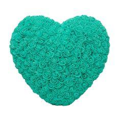 Srdce z umělých růží velké - zelené X00184