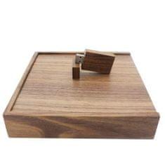 CTRL+C Sada: drevený USB hranol a drevený veľký box, orech
