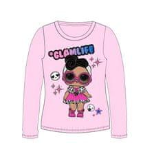 """Eplusm Dekliška majica z dolgimi rokavi """"LOL"""" - roza"""
