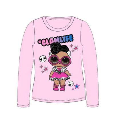 """Eplusm Koszulka dziewczęca z długimi rękawami """"LOL"""" - różowy - 110 / 4–5 rokov"""