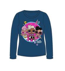 """Eplusm Dekliška majica z dolgimi rokavi """"LOL"""" - modra"""