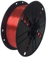 Gembird tlačová struna, PETG, 1,75mm, 1kg, červená (3DP-PETG1.75-01-R)