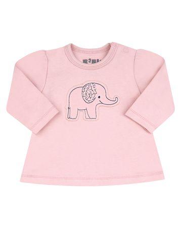 Nini ABN-2260 dekliški pulover iz organskega bombaža, roza, 68
